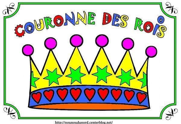 Couronne des rois en coloriage gommettes en couleur - Image couronne des rois ...