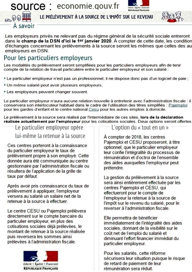 Bevorzugt PRÉLÈVEMENT À LA SOURCE pour 2018 SN35