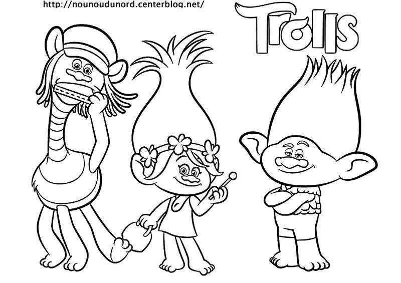 les trolls a colorier jpg - Dessin Colorier