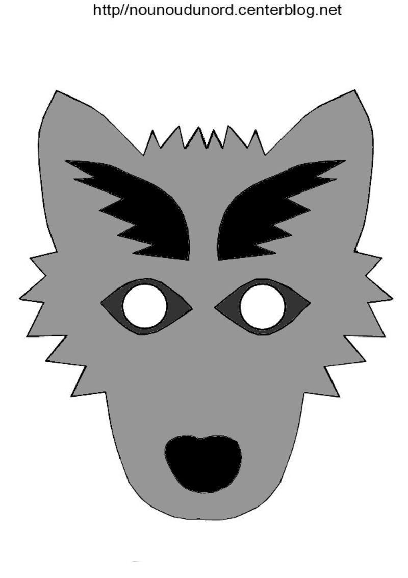 Masque loup - Masque de loup a fabriquer ...