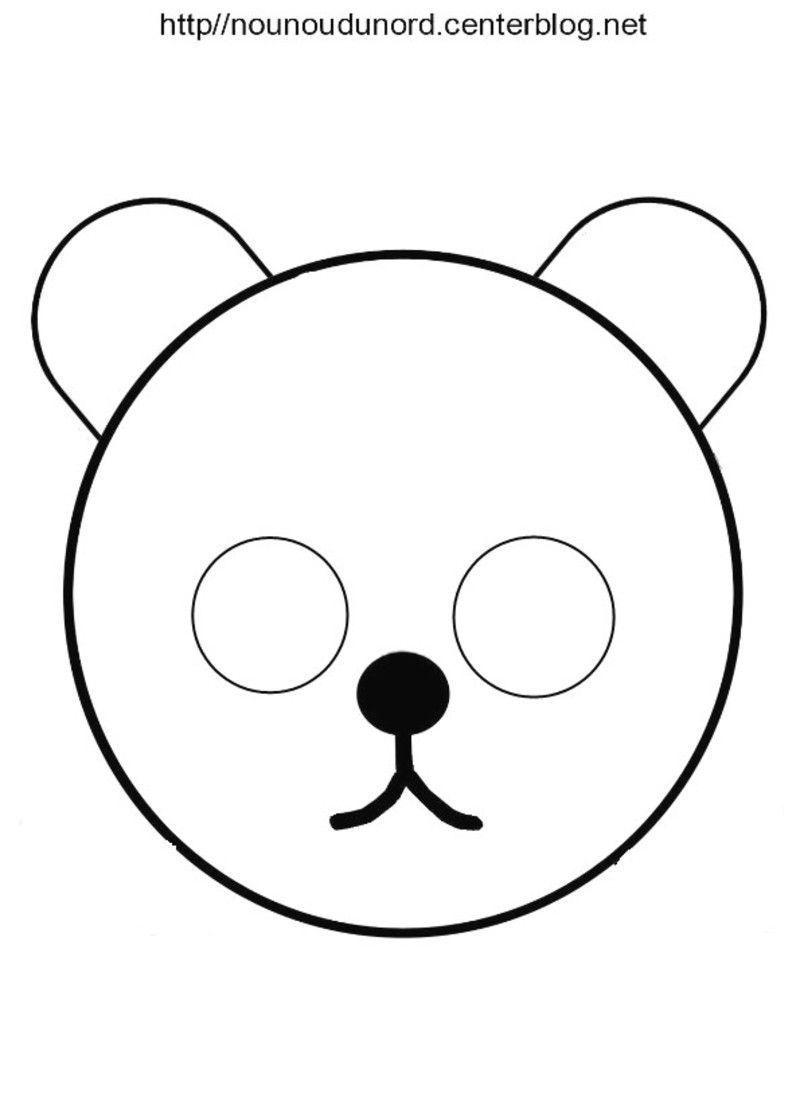 Masques ours petit ours brun et winnie l 39 ourson - Coloriage petit ours brun a imprimer ...