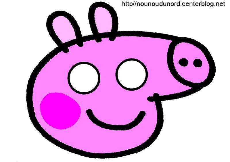 Peppa Pig Masque A Imprimer