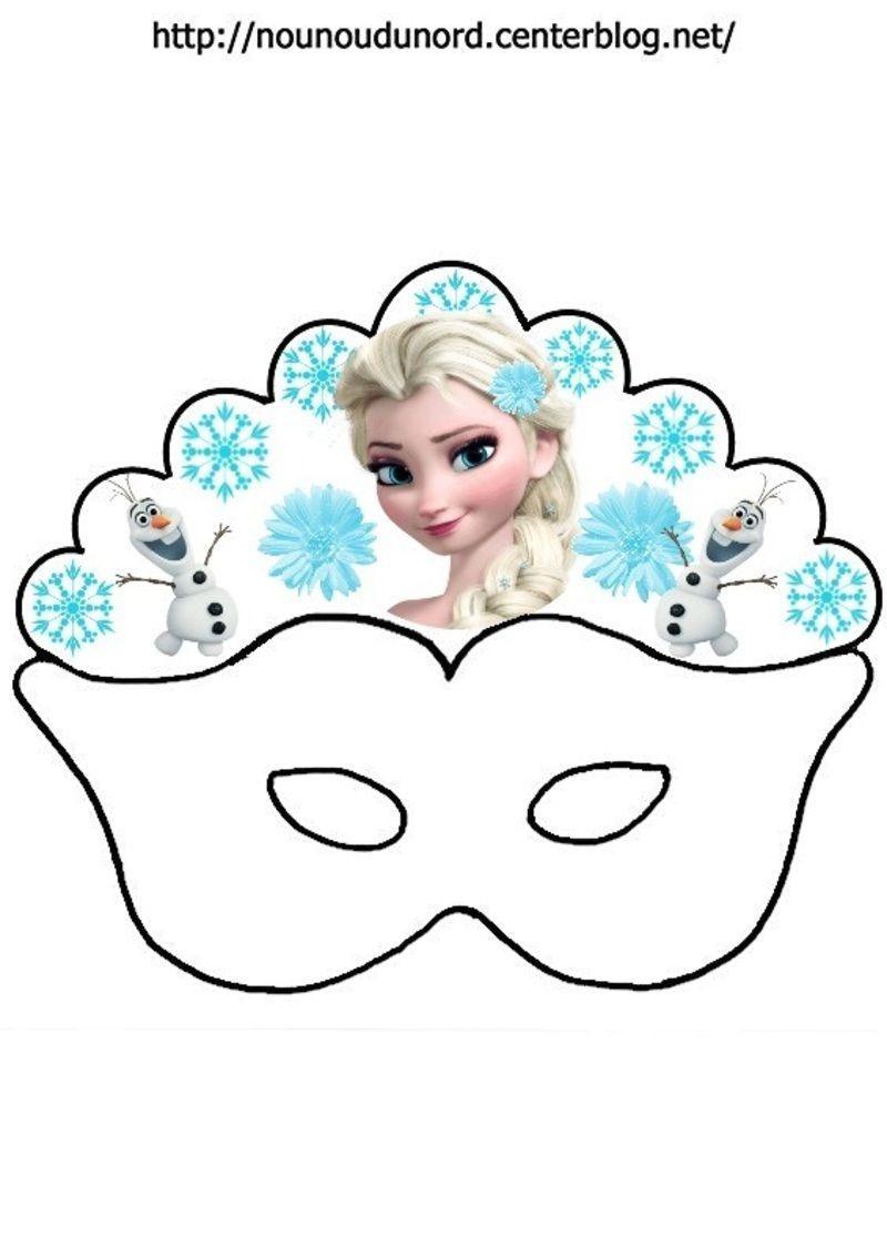 Masque reine des neiges elsa olaf - Dessin de reine des neiges ...