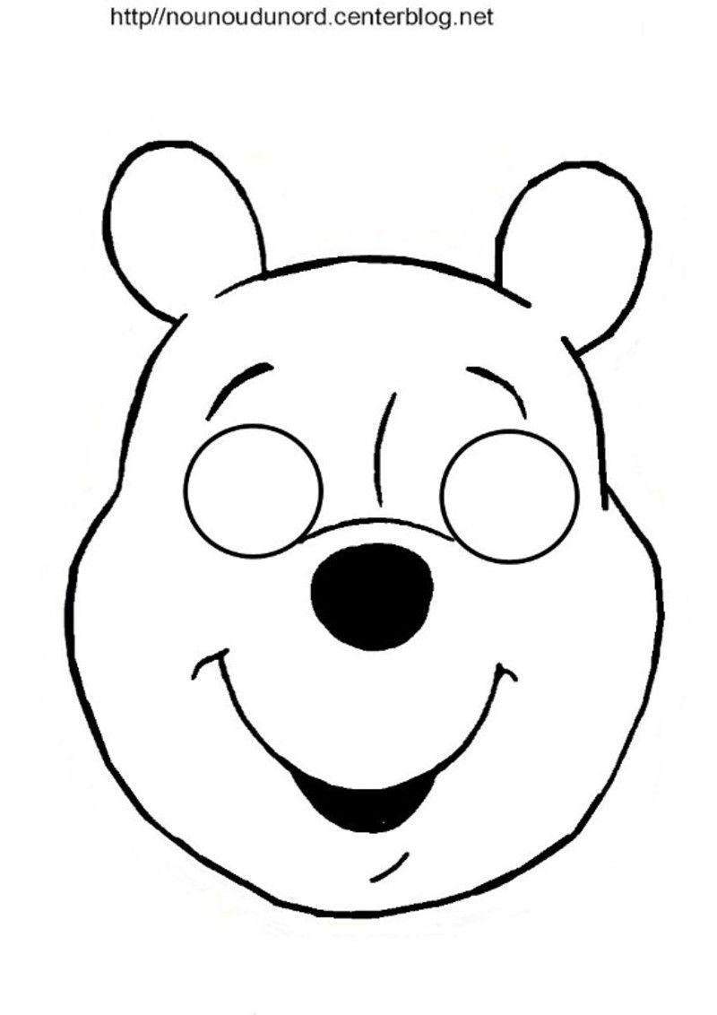 Masques ours petit ours brun et winnie l 39 ourson - Winnie l ourson a colorier ...