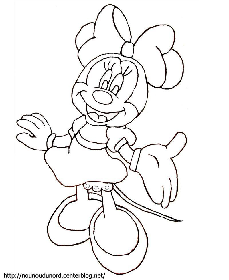 Coloriage mickey et minnie dessin s par nounoudunord - Dessins de minnie ...
