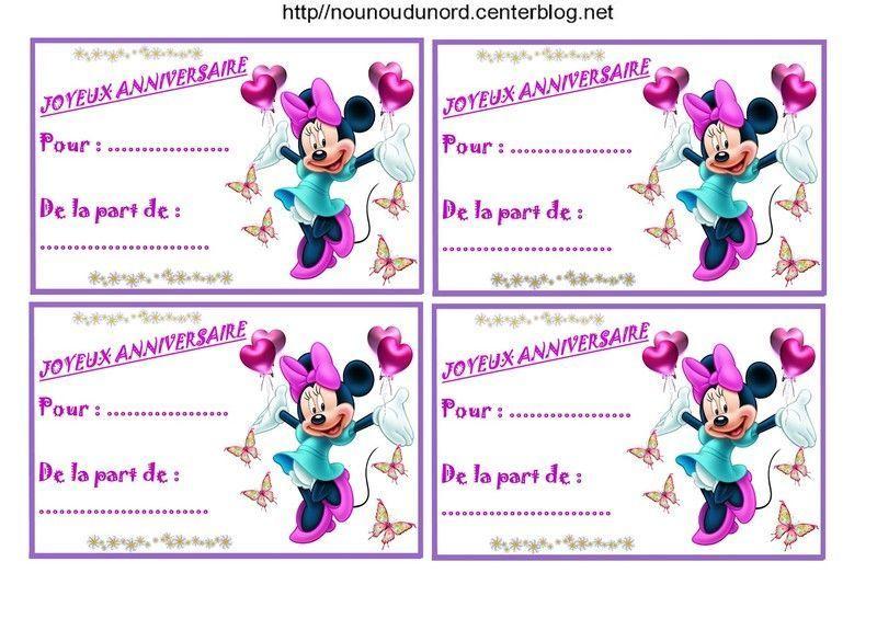 Etiquettes invitations mickey et minnie pour anniversaire - Etiquette prenom a imprimer ...