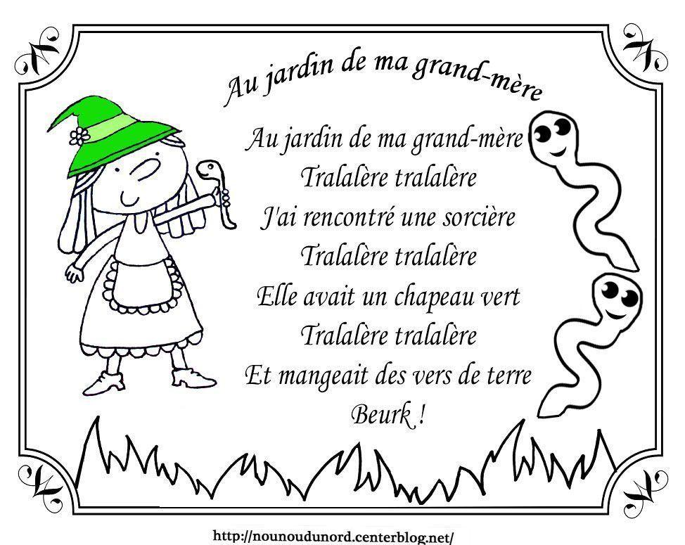 Coloriage halloween a imprimer for Au jardin de ma grand mere