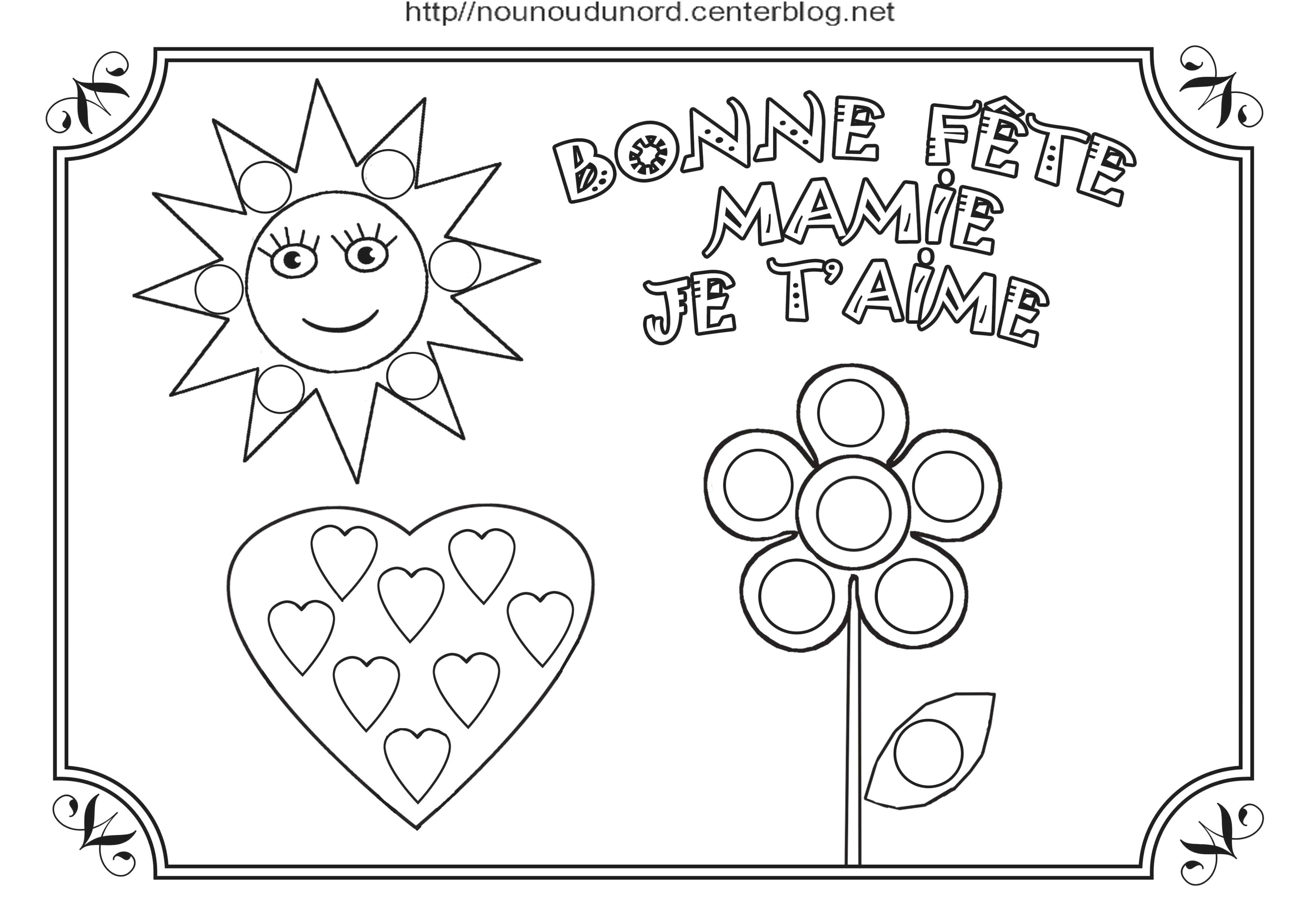 Coloriage Mamie Gateaux.Coloriage Fete Des Mamies