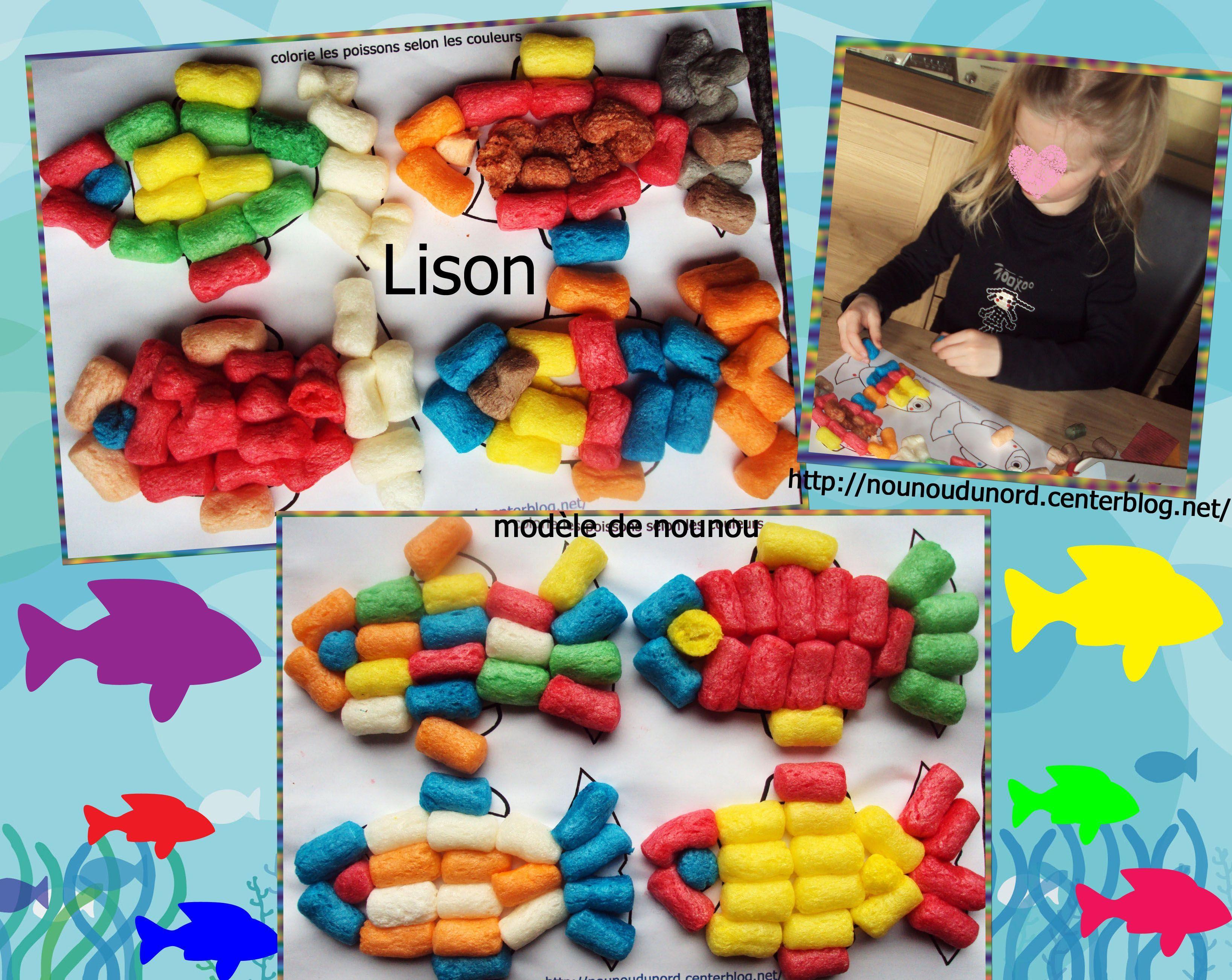 Poissons r alis s avec des flocons de ma s 2012 for Flocon poisson