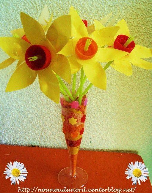 Activite avec des petits suisses - Activite manuelle fleur ...