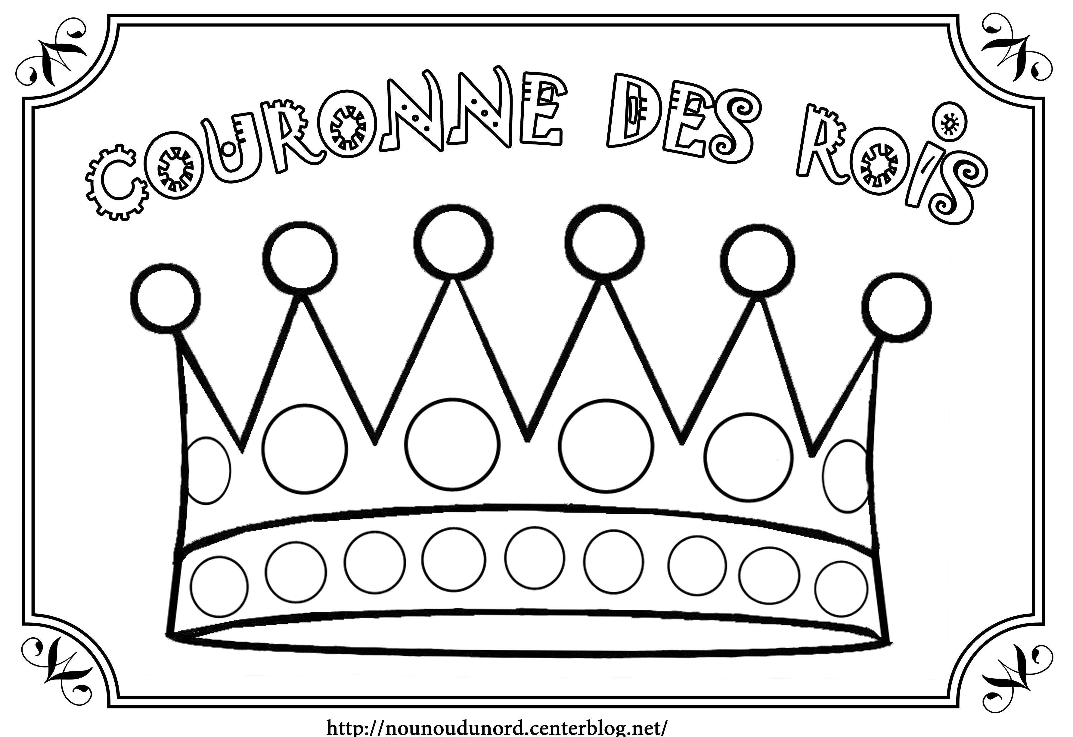 Coloriage galette des rois epiphanie - Coloriage bricolage ...