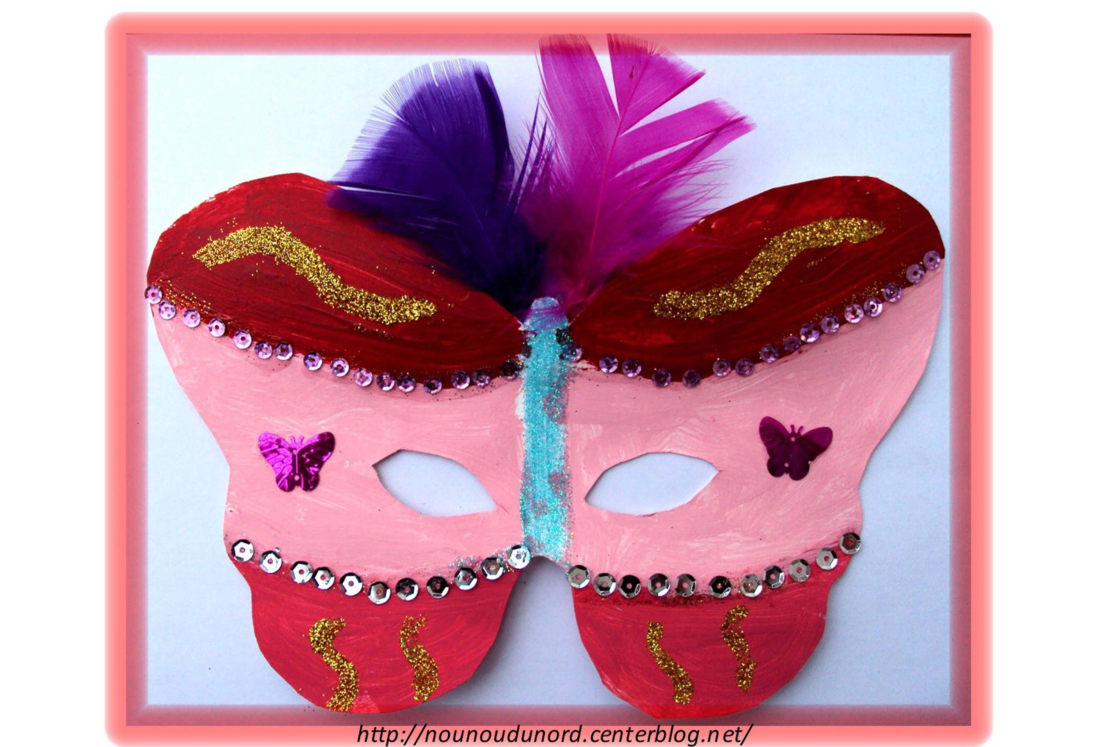 Masque papillon r alis par axelle 5ans1 2 mars 2011 - Masque papillon carnaval ...