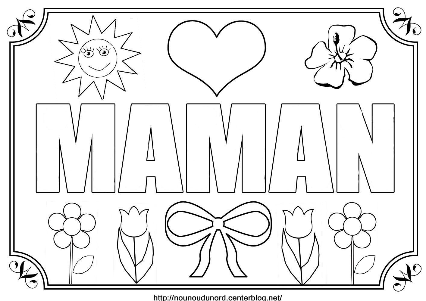 Nounoudunord bricolages avec les enfants page 201 - Dessin bonne fete maman ...
