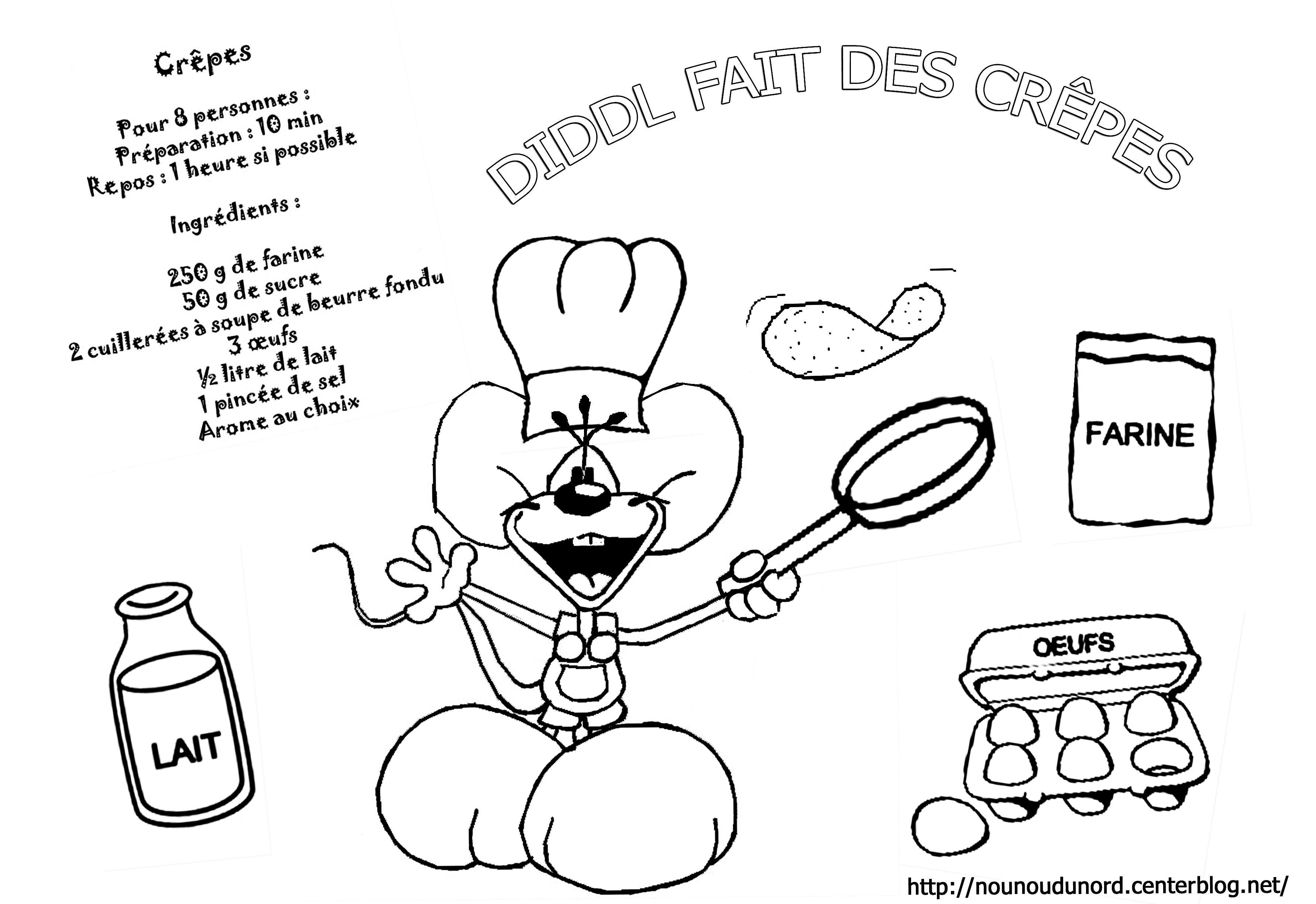 Coloriages crepes chandeleur - Coloriage de diddl ...
