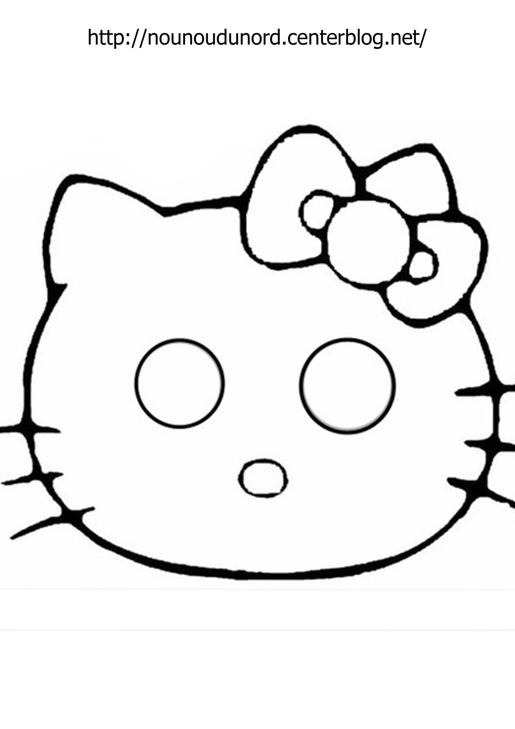 Très hello kitty à imprimer EO44