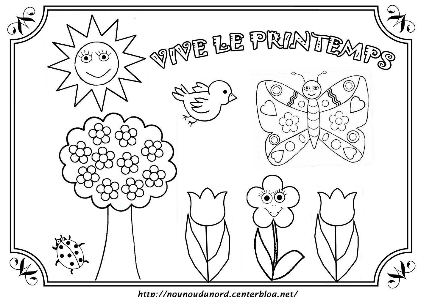 Coloriage Printemps A Imprimer Pdf.Coloriage Printemps Dessine Par Nounoudunord