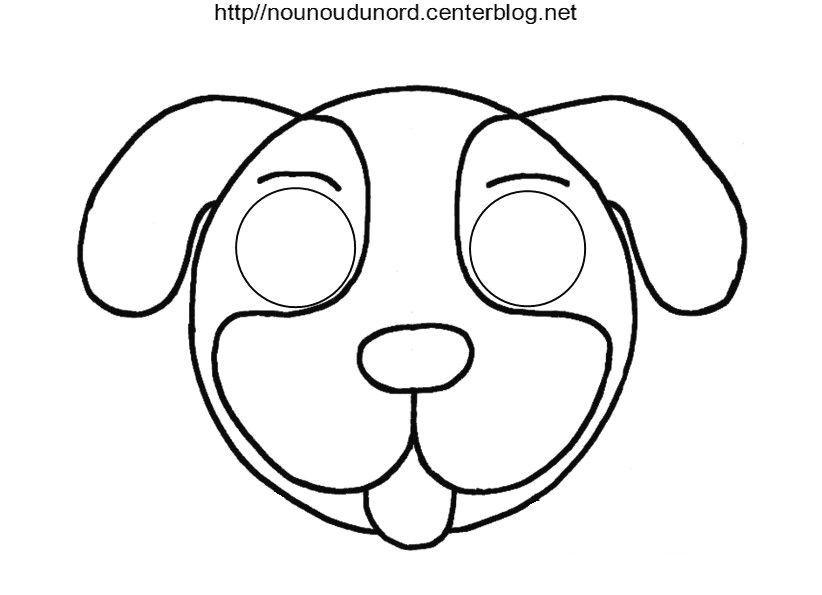 Masque chien - Masque de chat a colorier ...