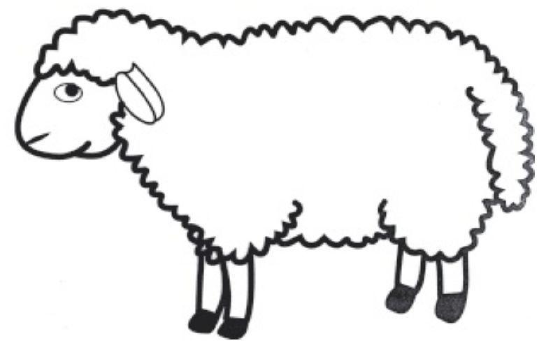 Le gabarit du mouton - Mouton a dessiner ...