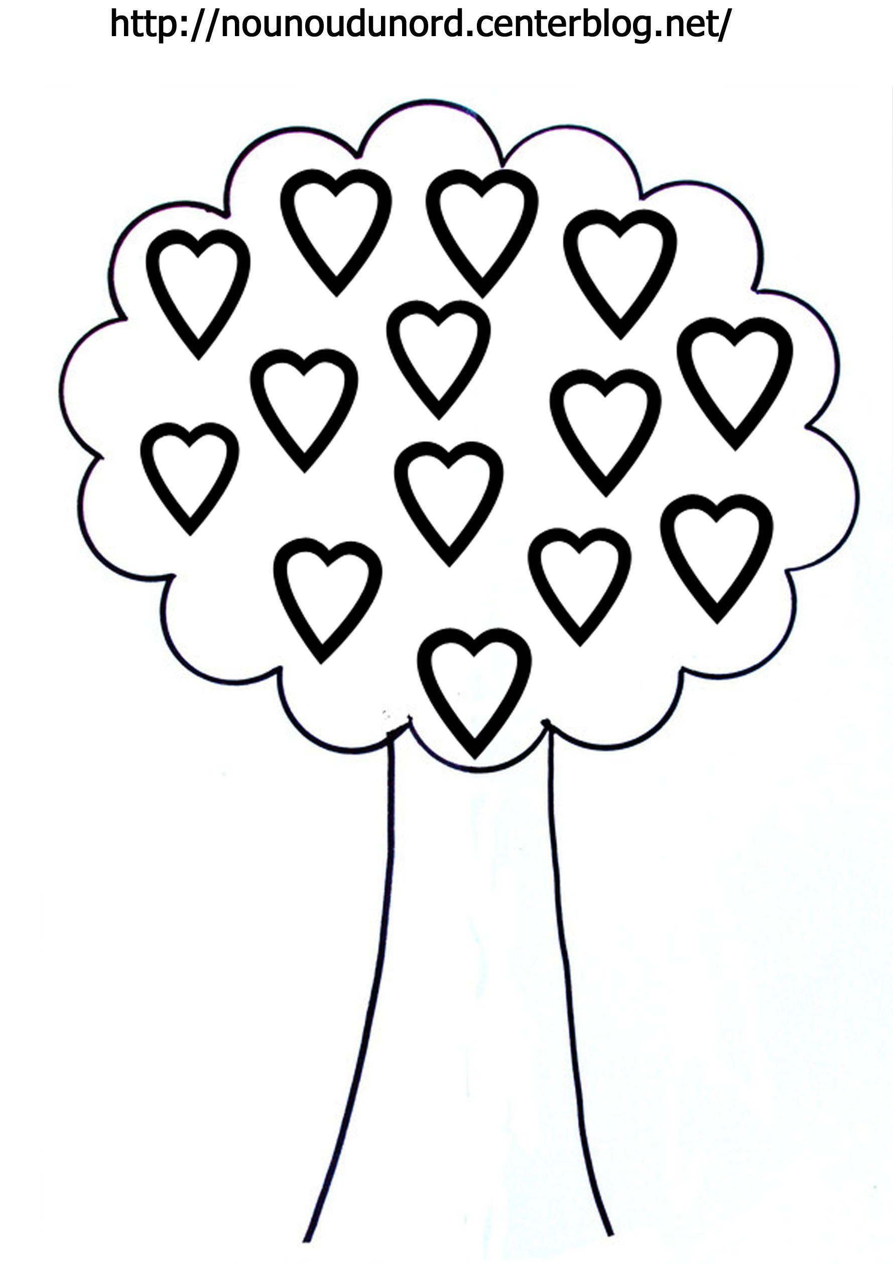 Coloriage coeurs st valentin - Image coeur gratuit ...