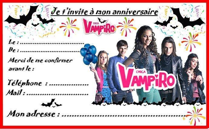 Etiquettes Et Invitations Chica Vampiro Pour Anniversaire