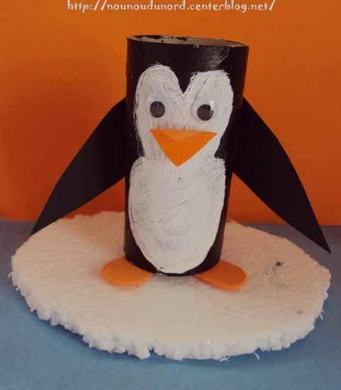pingouin r alis avec un rouleau de papier wc 2011. Black Bedroom Furniture Sets. Home Design Ideas