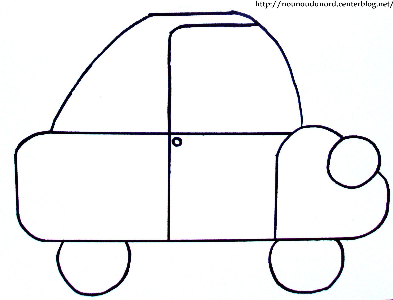 Coloriage voiture dessin par nounoudunord - Voiture simple a dessiner ...