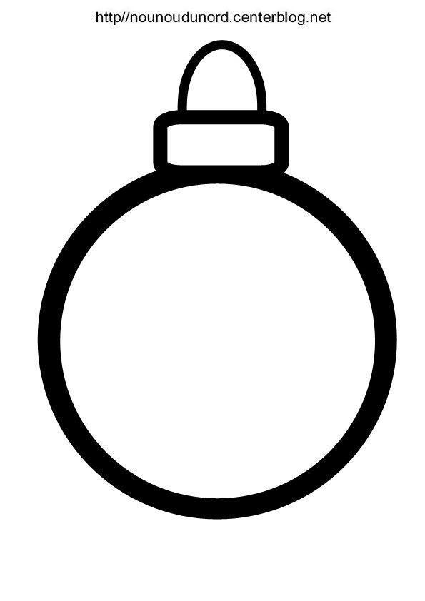 Boule De Noël Gabarit Pour Fenêtre