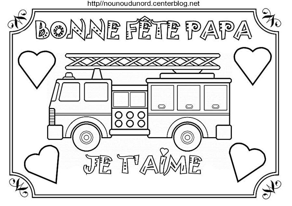 Bonne Fete Papa Camion De Pompier Velo Voiture Ambulance