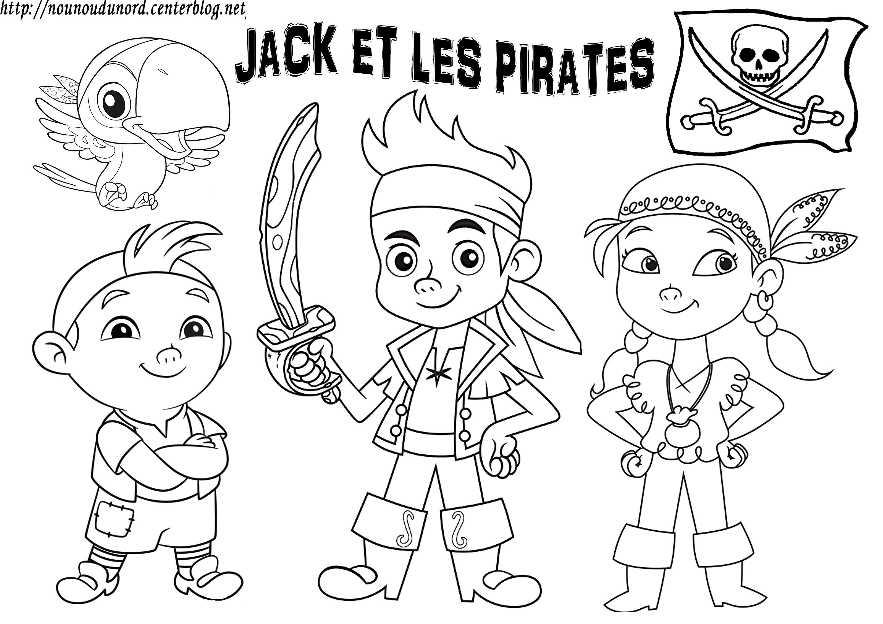 Jake et les pirates coloriage gommettes - Coloriage jack le pirate ...