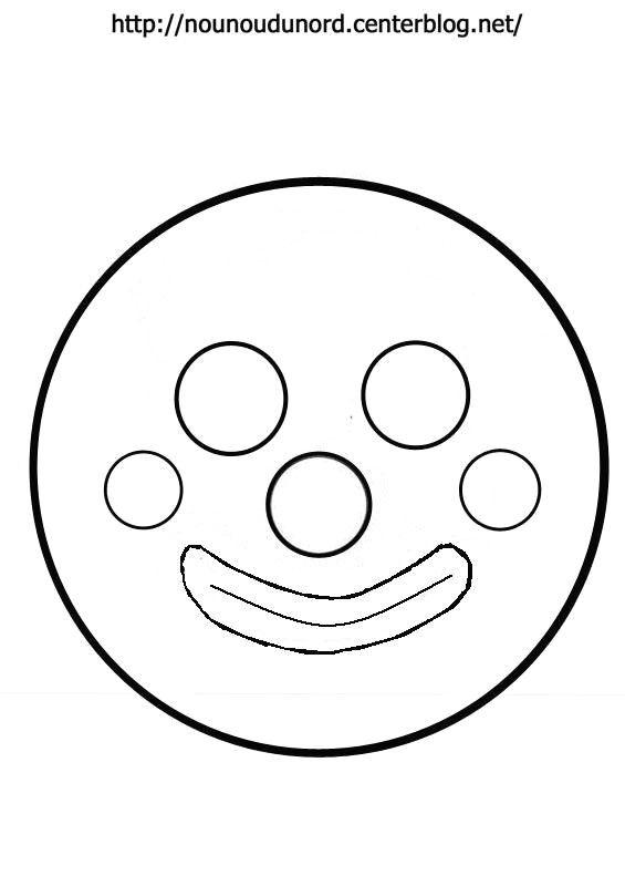 Masque t te de clown - Photo de clown a imprimer ...