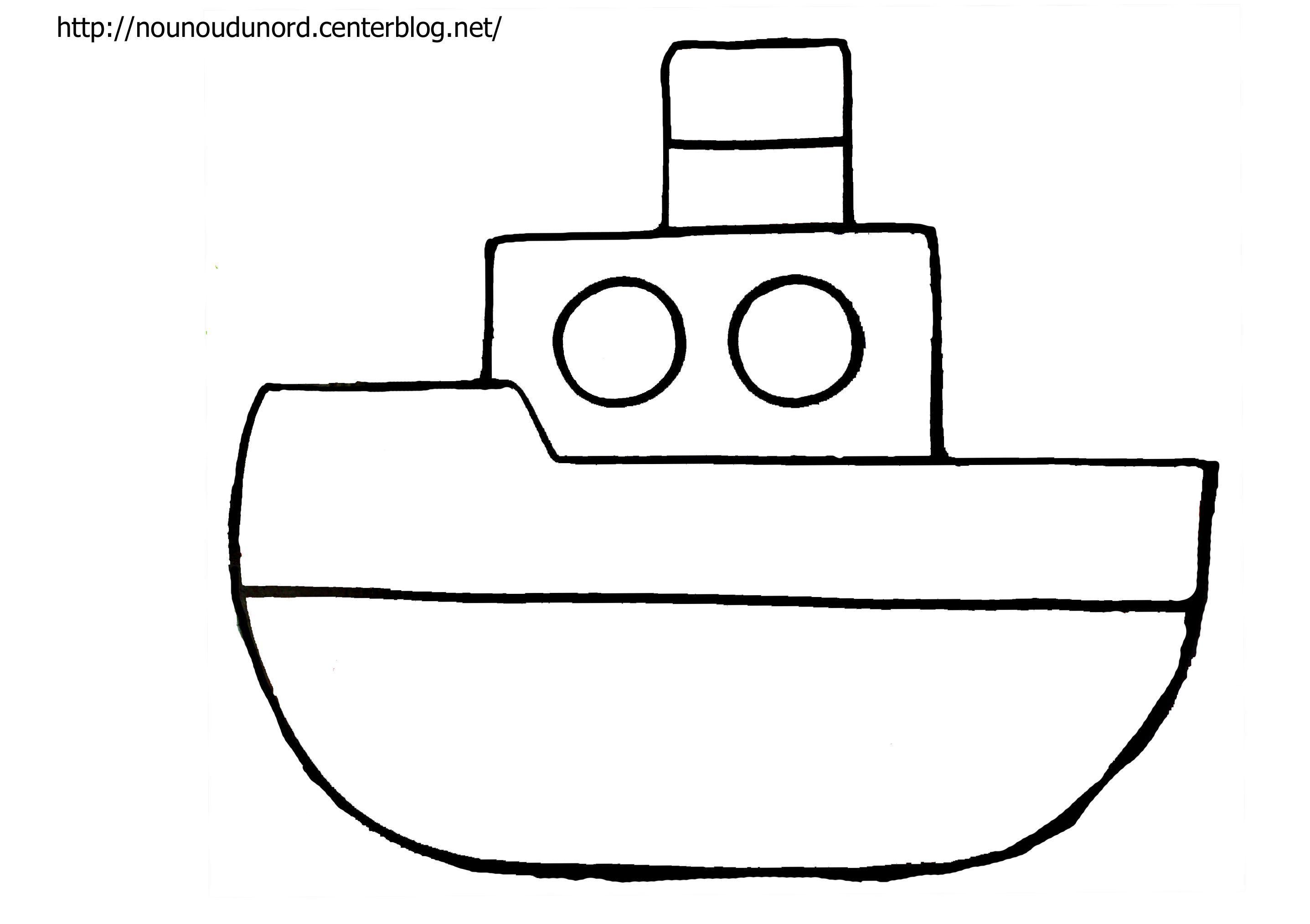 Coloriage bateau dessin par nounoudunord - Dessin bateau enfant ...