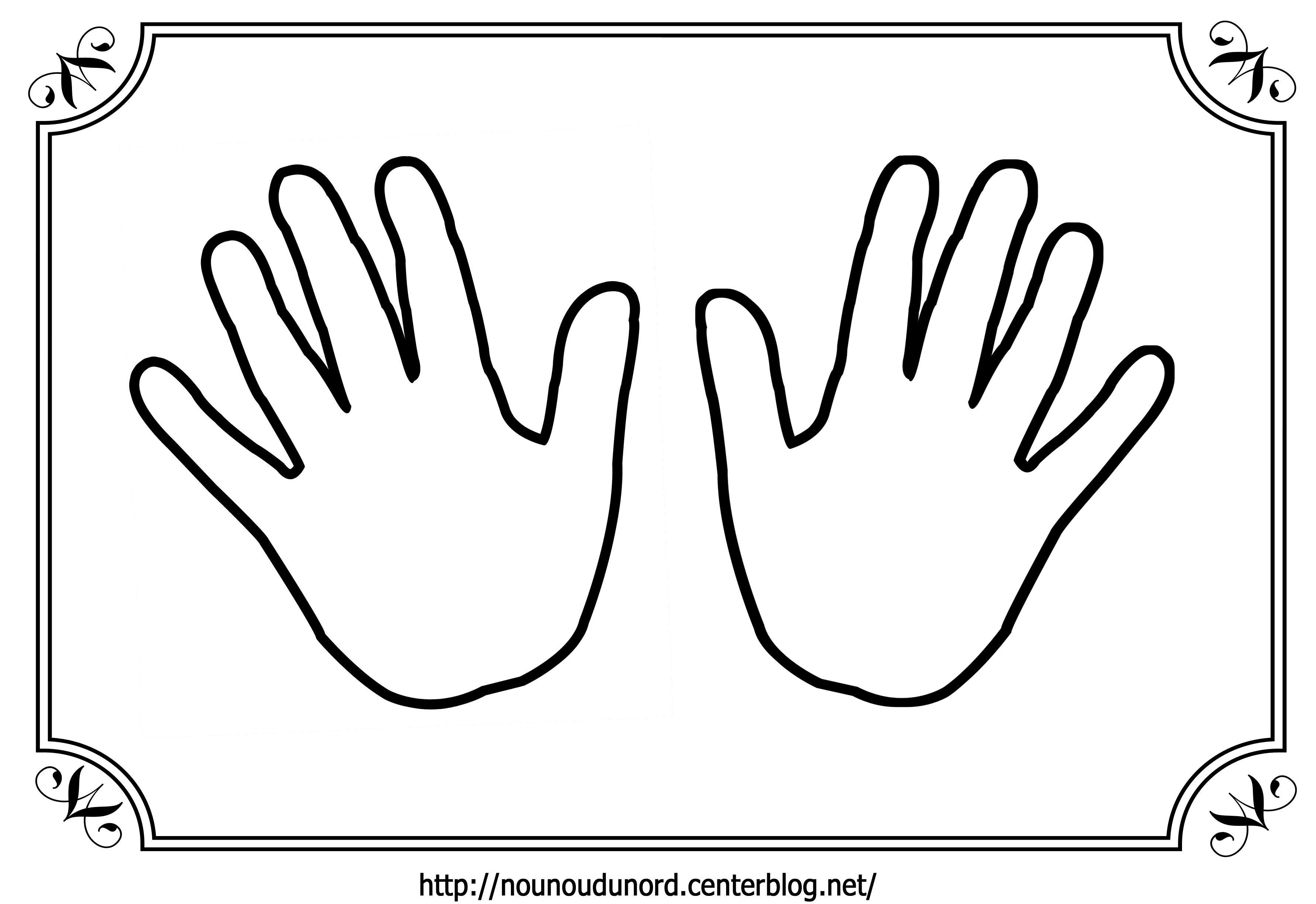 Coloriage mains - Dessin de la main ...