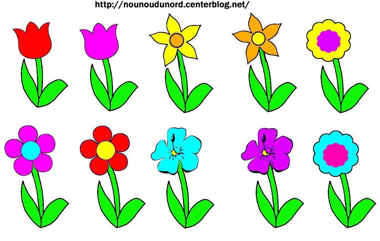 Gommettes Fleurs En Couleur Et A Colorier A Imprimer