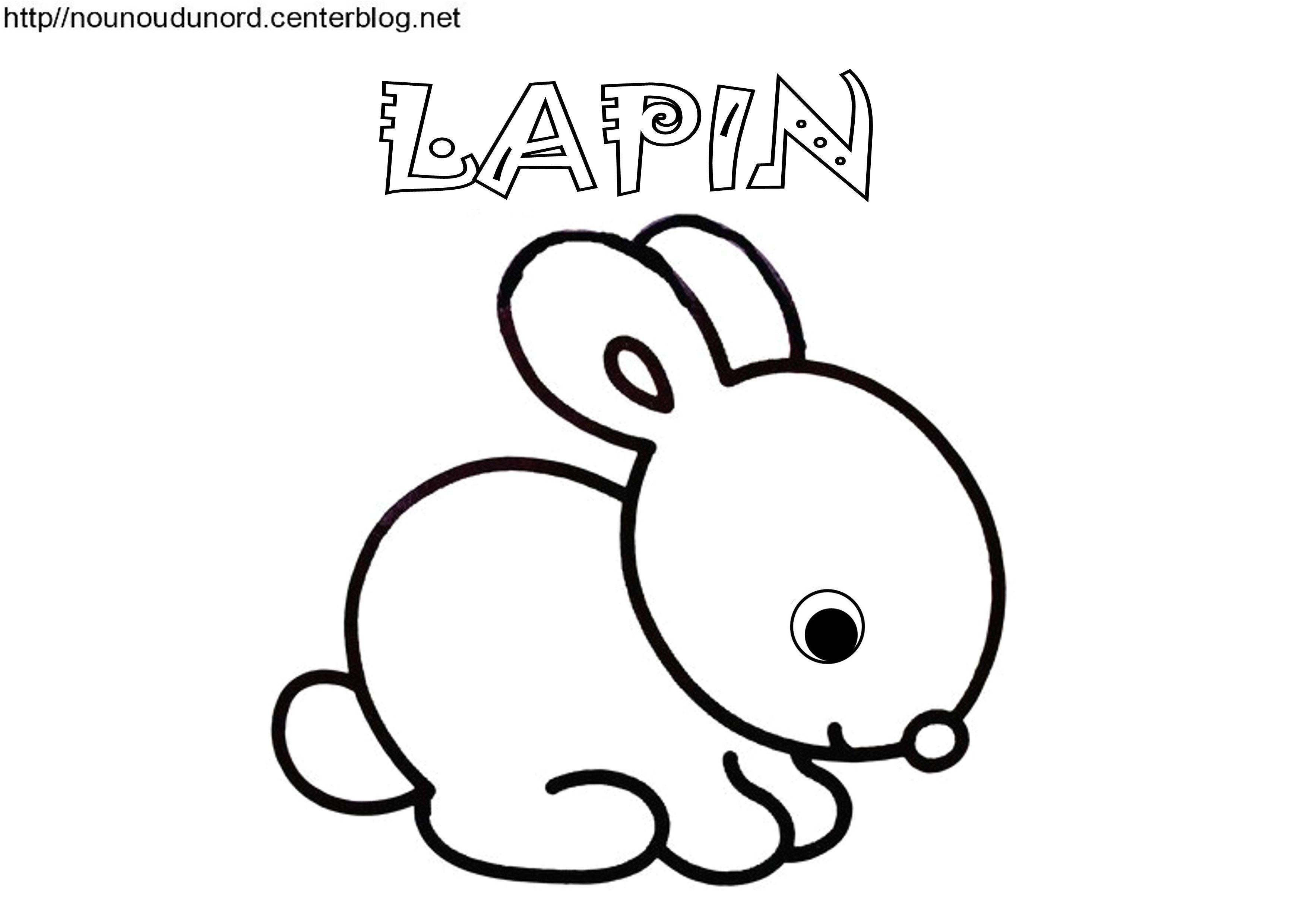 Frais Dessin A Imprimer Bebe Lapin