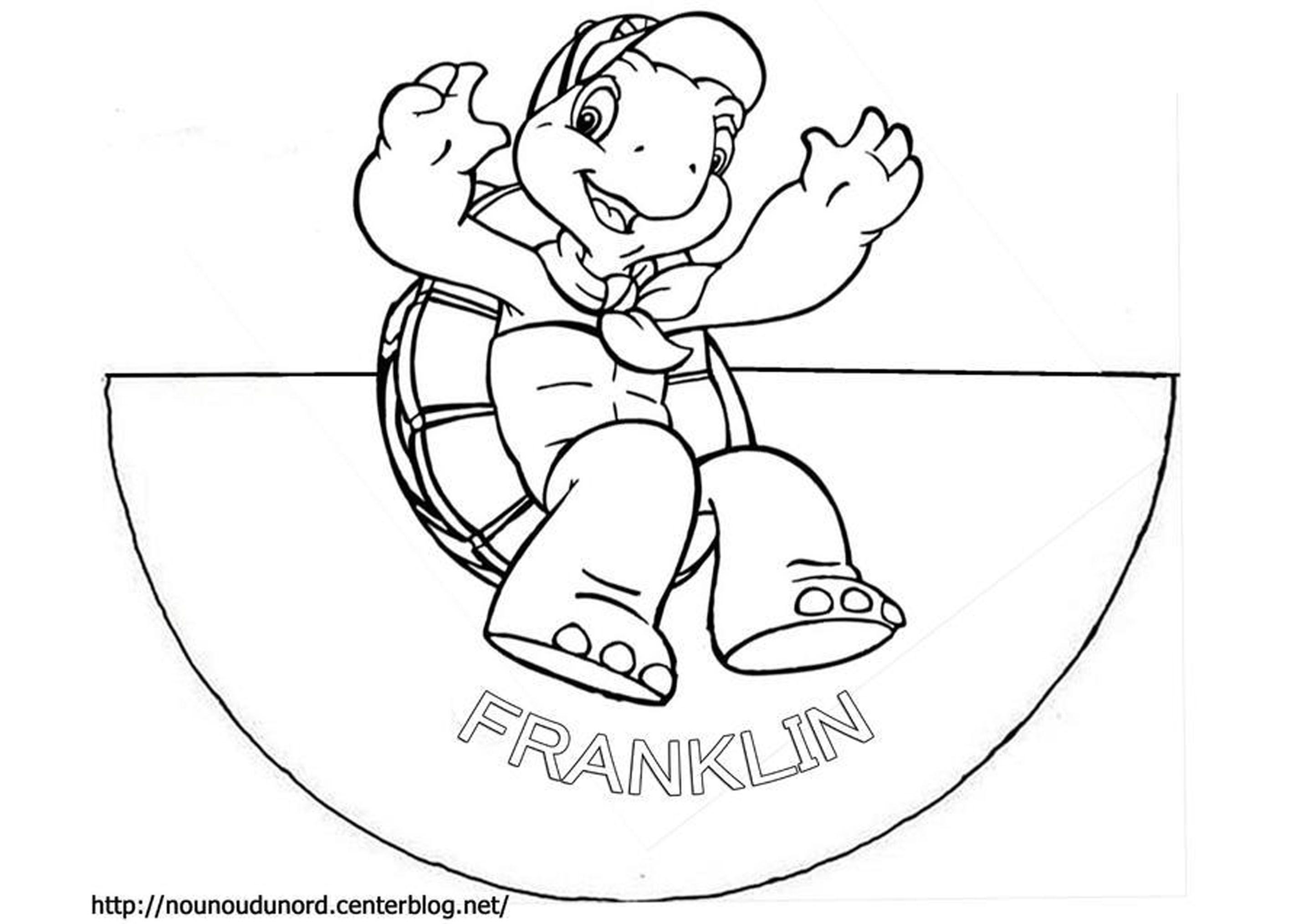 Coloriage c ne de franklin - Dessin franklin ...