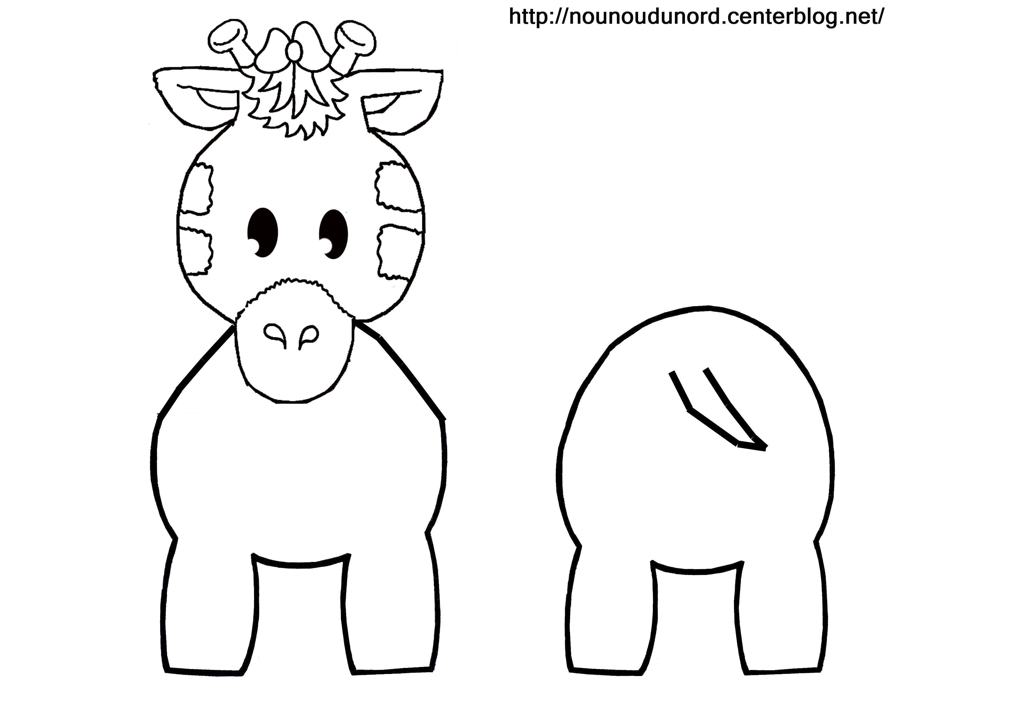Coloriage animaux pour rouleau wc page 2 - Coloriage de girafe ...