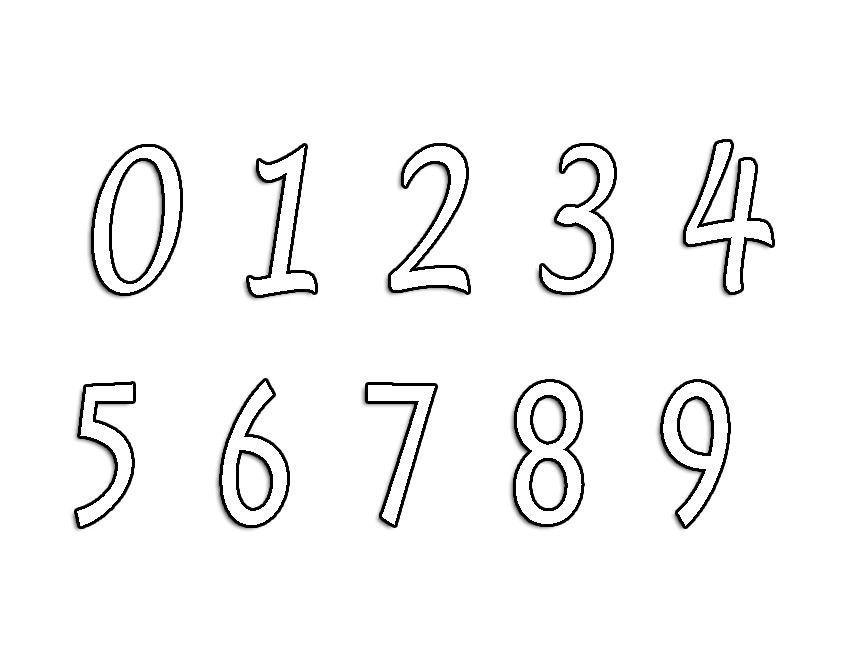 Coloriage chiffre - Chiffre a imprimer ...