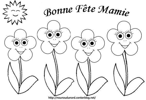 Coloriage les fleurs bonne f te mamie - Bonne fete dessin ...