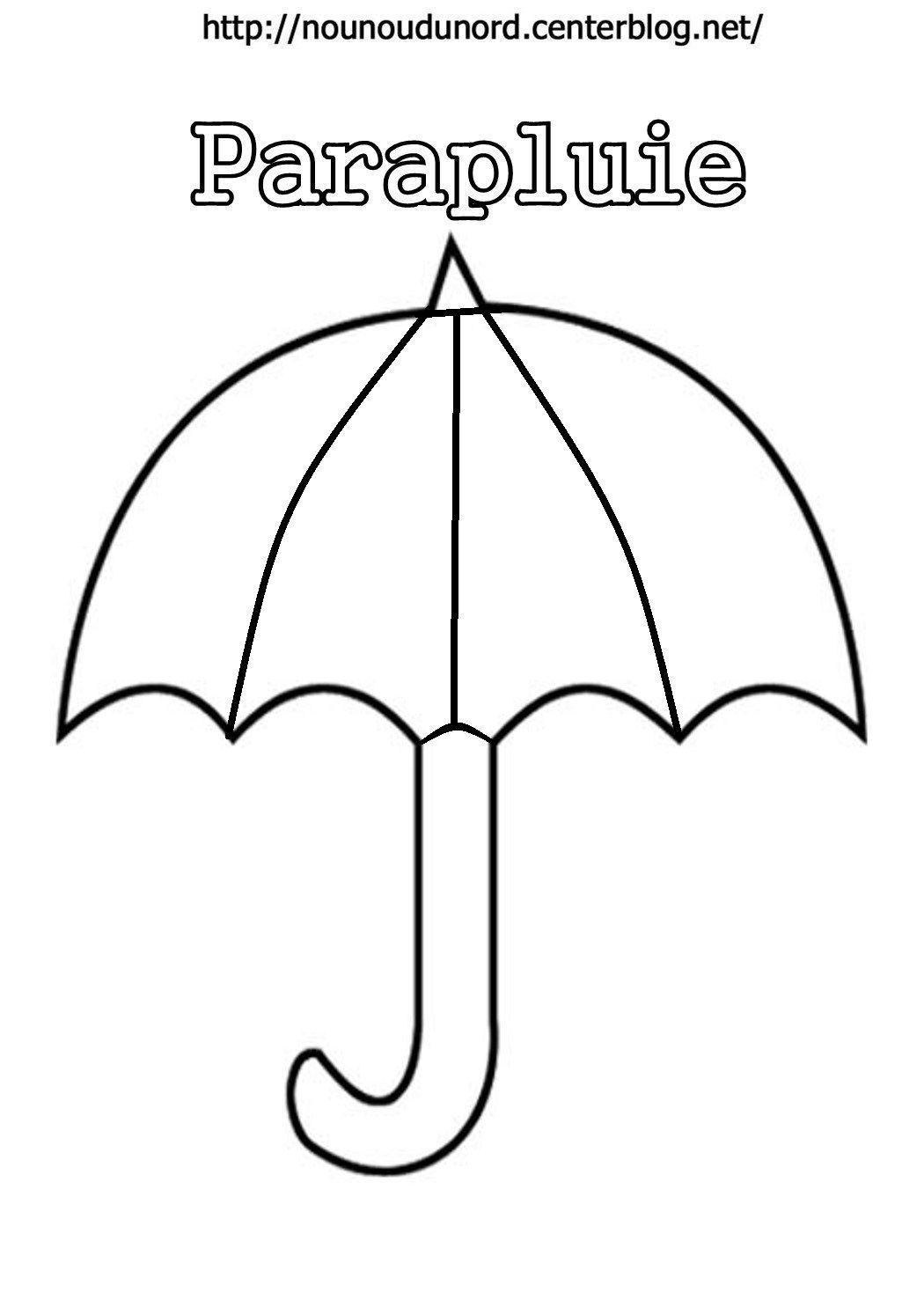 Papapluies colorier et pour gommettes - Dessin parapluie ...
