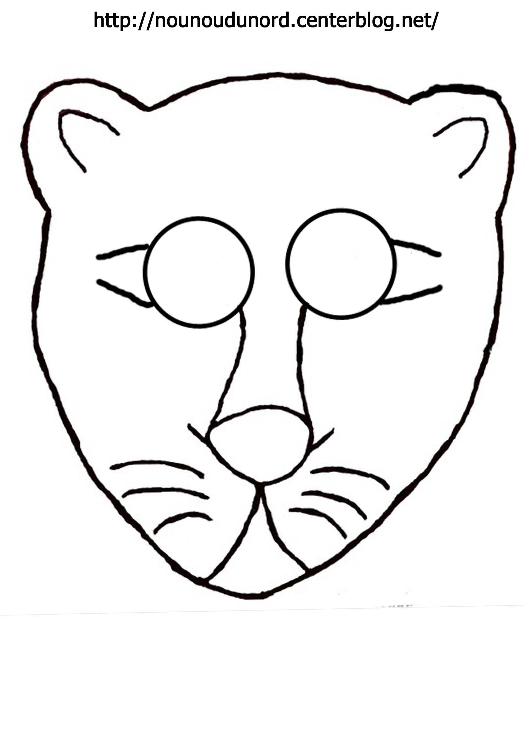 Activite masque a imprimer page 3 - Lionne dessin ...