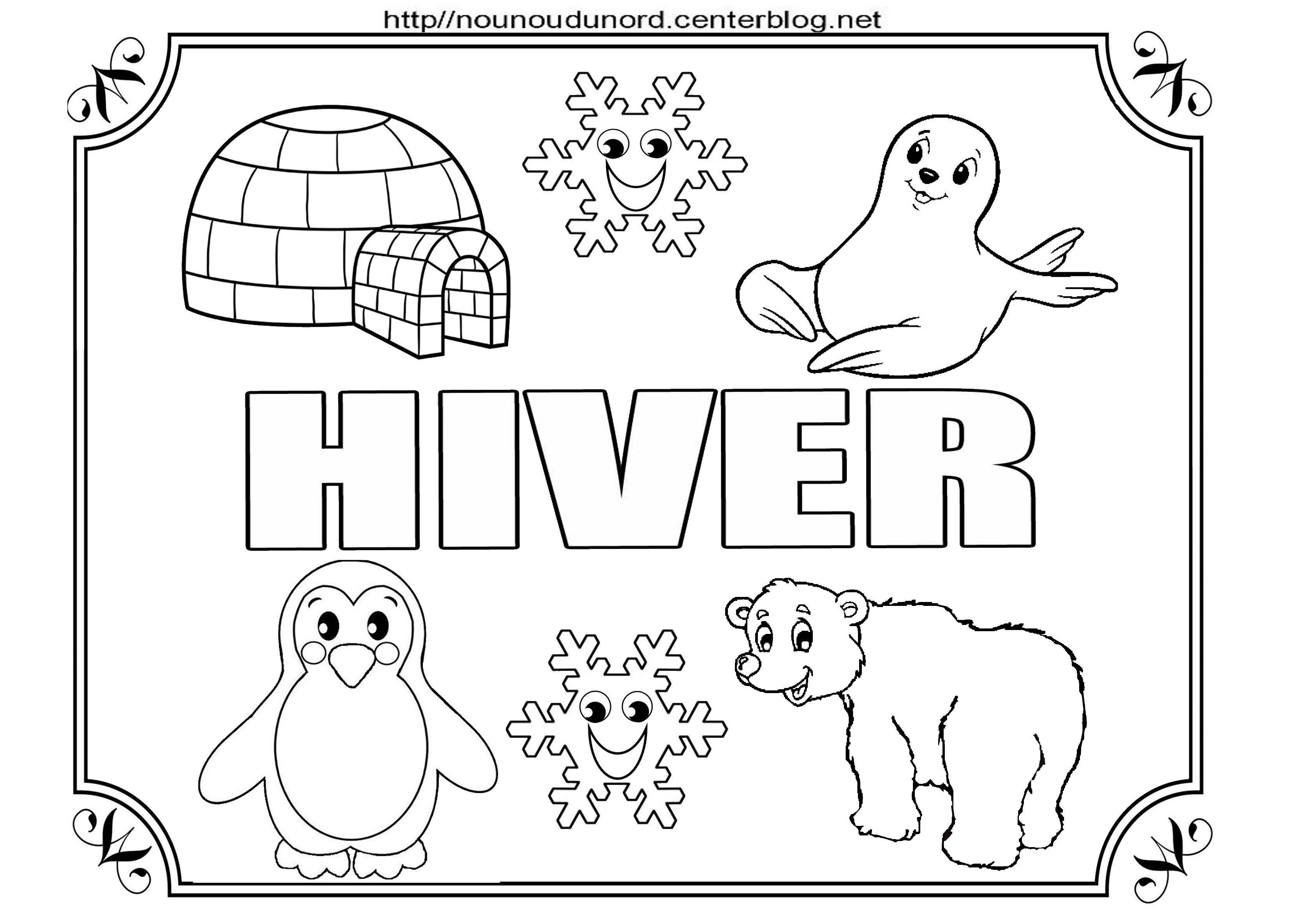 Hiver Dessin coloriage hiver