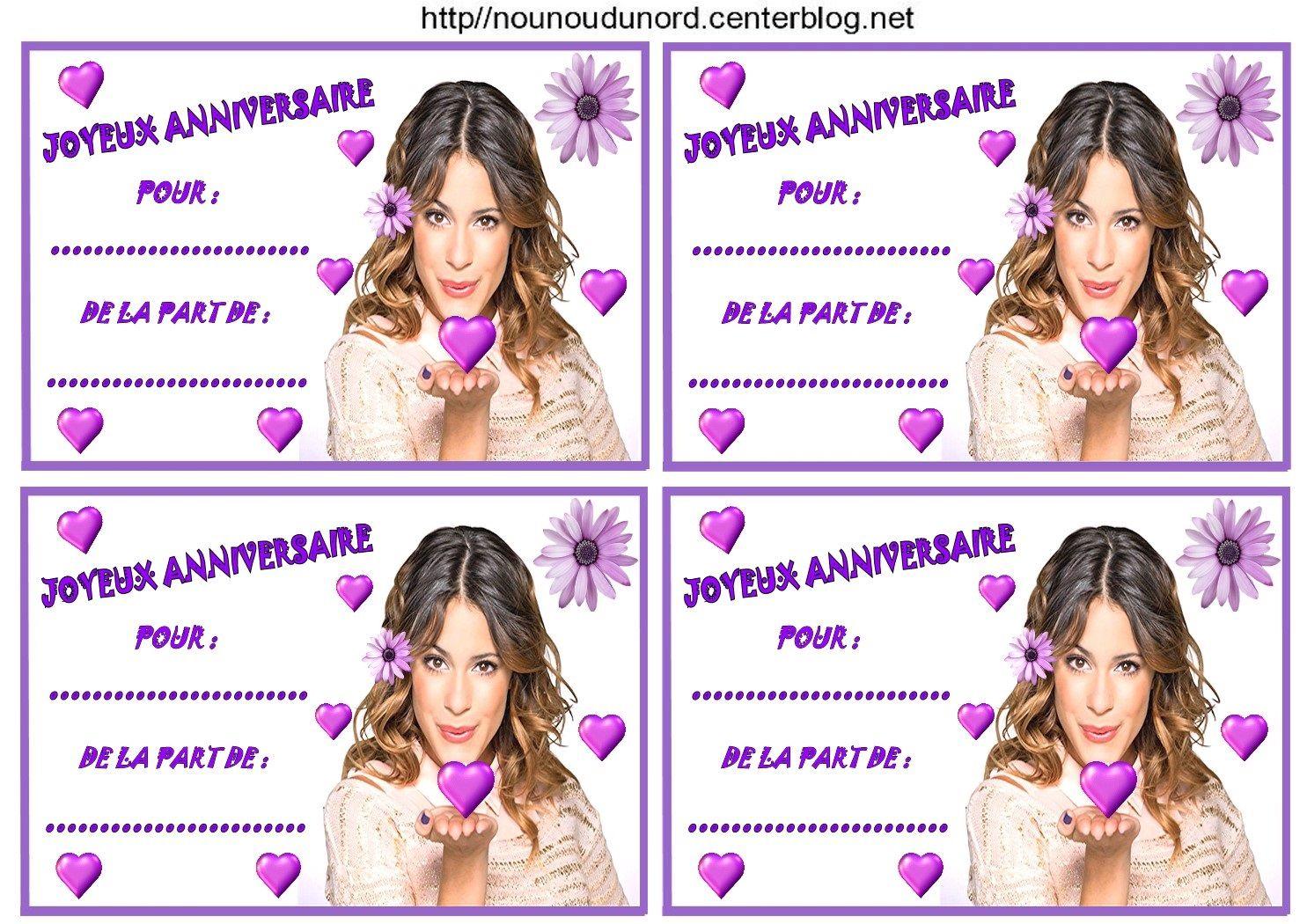 Etiquettes invitations violetta pour anniversaire - Jeux de fille de violetta ...