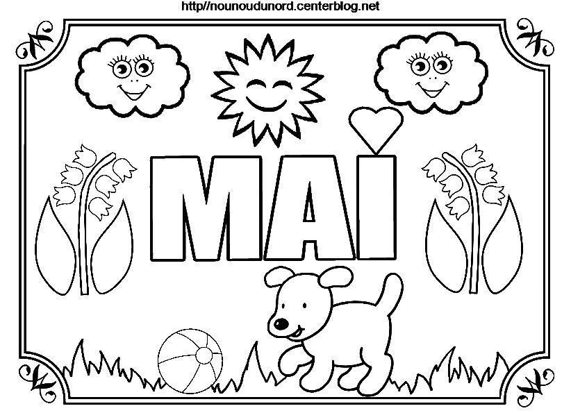 Nounoudunord bricolages avec les enfants page 3 - Coloriage 1er mai ...