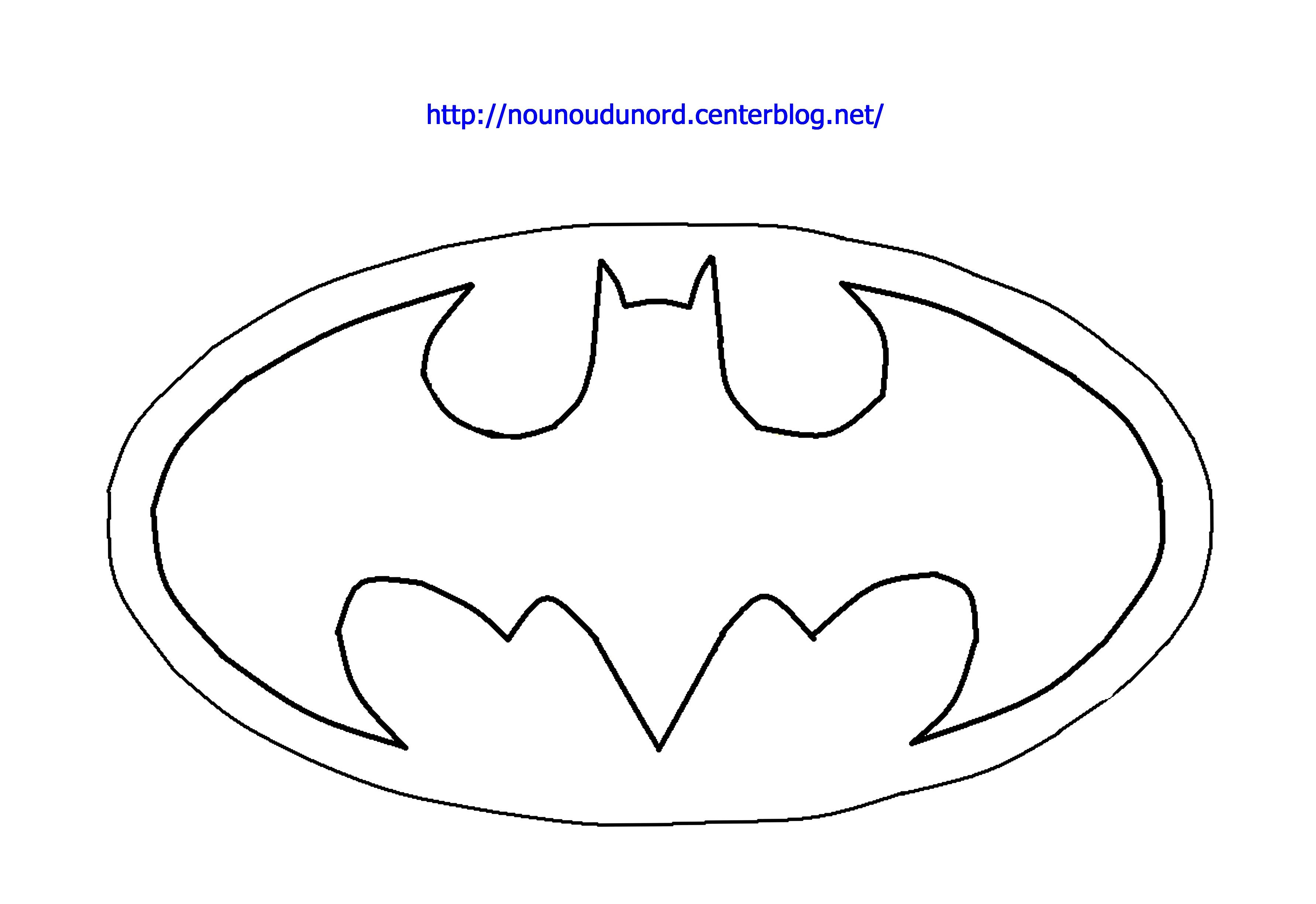 Coloriage Signe Batman.Coloriage Logo Batman Dessine Par Nounoudunord