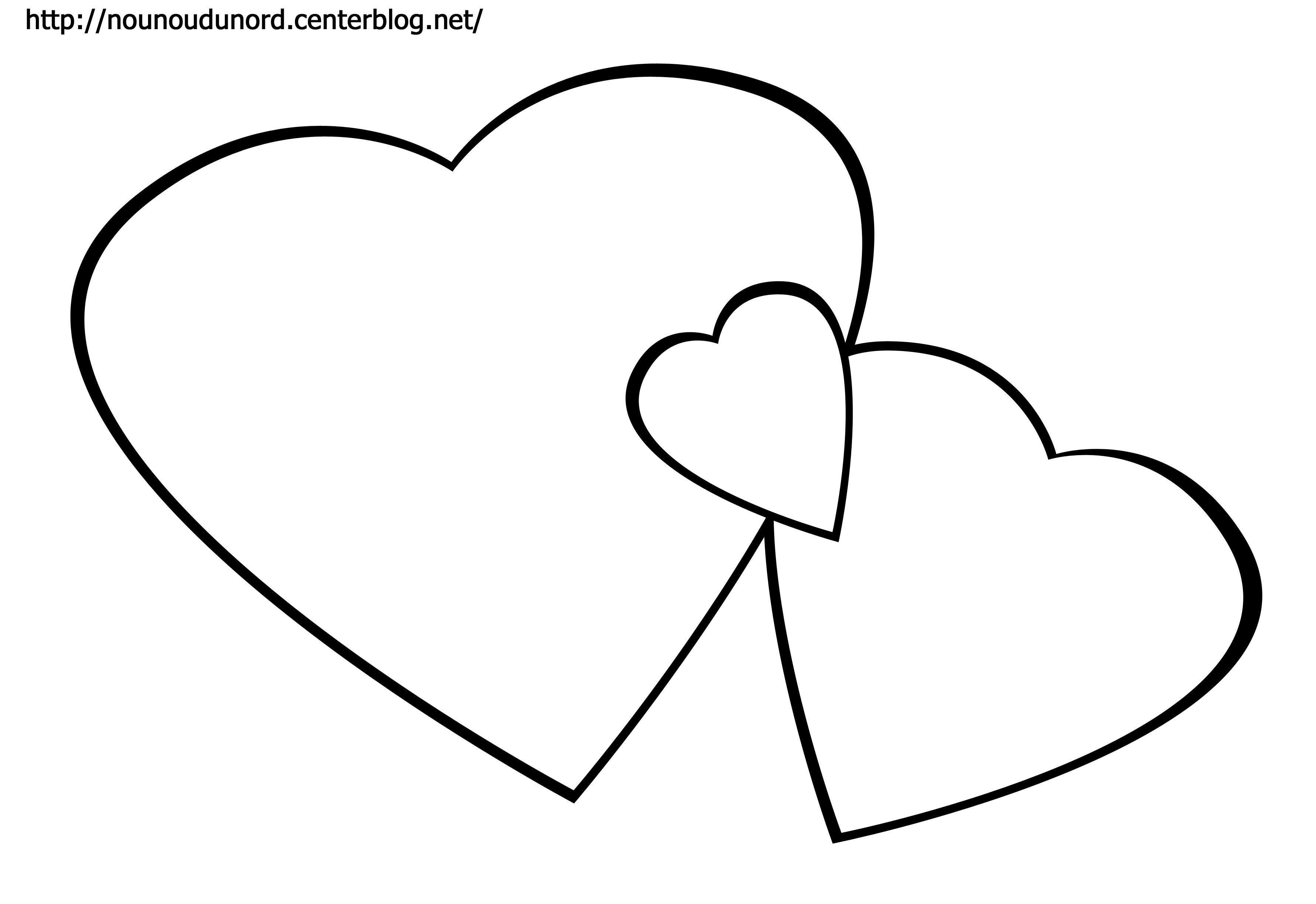 Coloriage coeur dessin par nounoudunord - Images avec des coeurs ...
