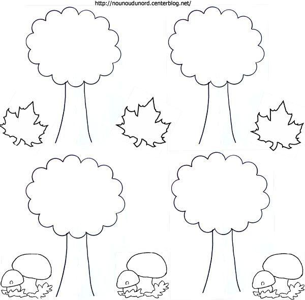 Coloriage d 39 automne les arbres dessin s par nounoudunord - Coloriage arbre d automne ...