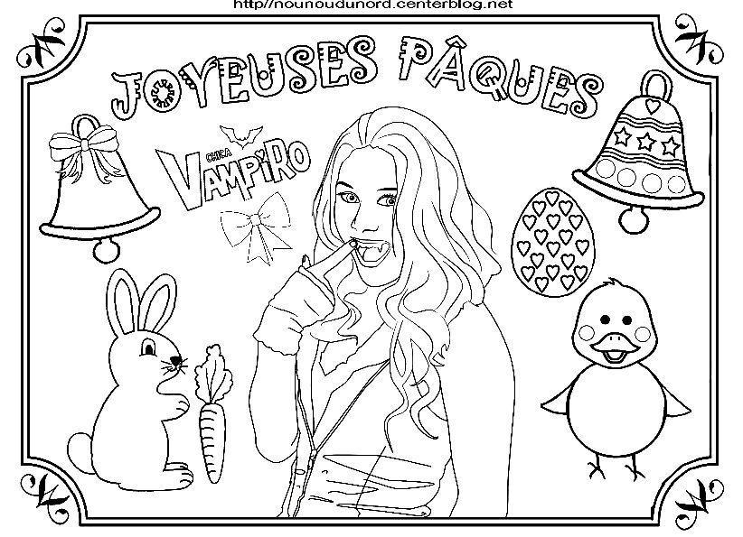 Chica vampiro coloriage de p ques - Coloriage chica vampiro ...