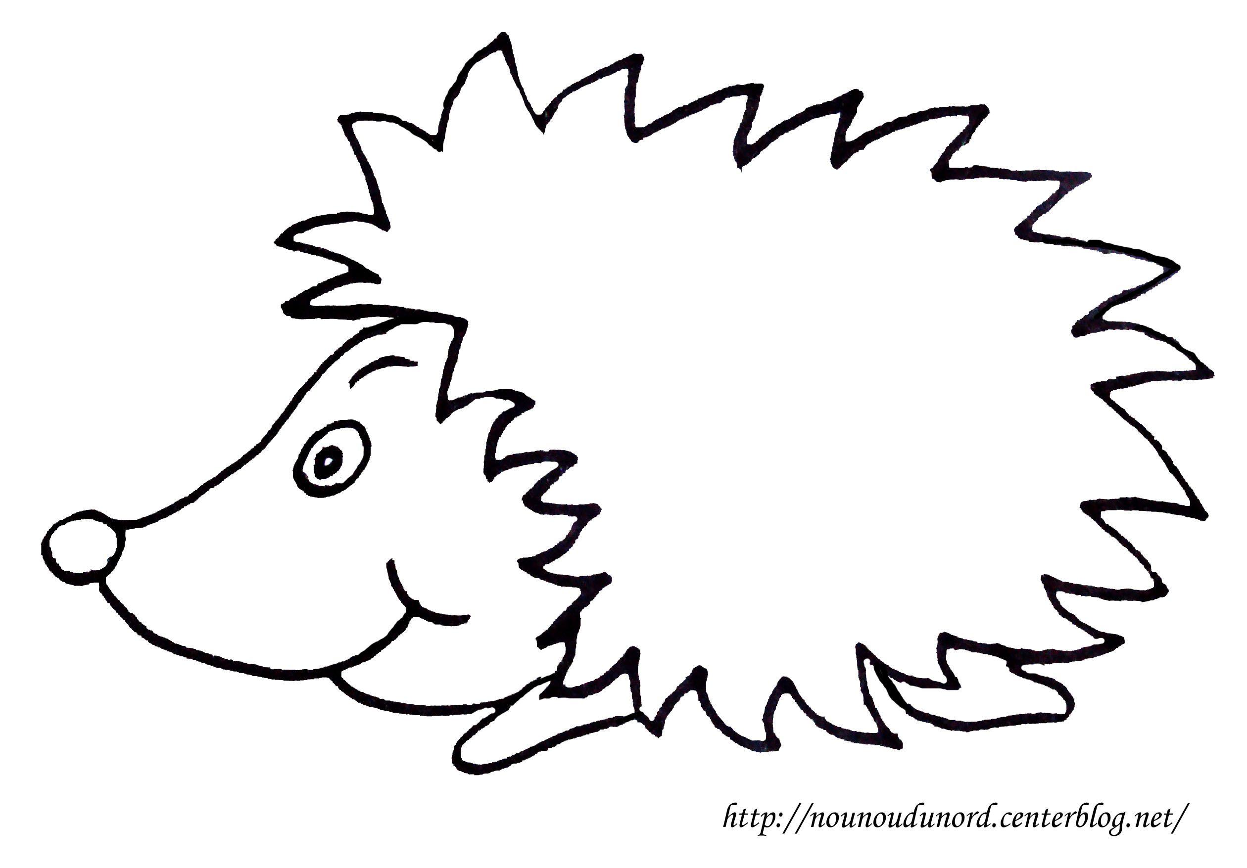 Coloriage h risson dessin par nounoudunord - Herisson dessin ...
