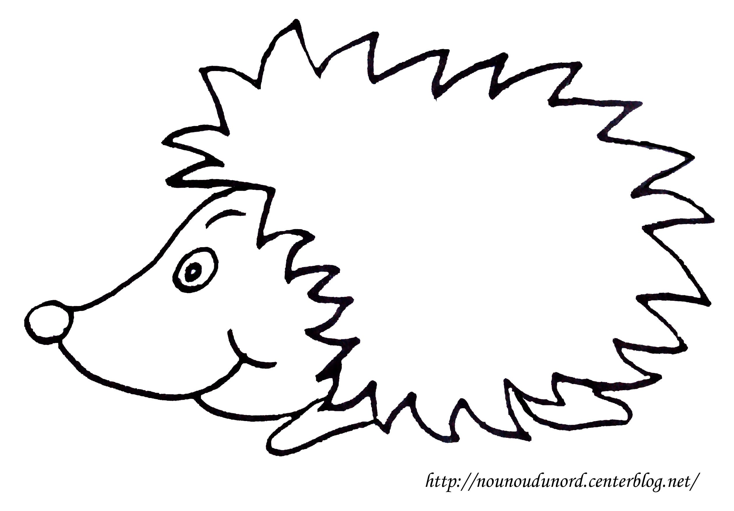 Coloriage h risson dessin par nounoudunord - Herisson coloriage ...
