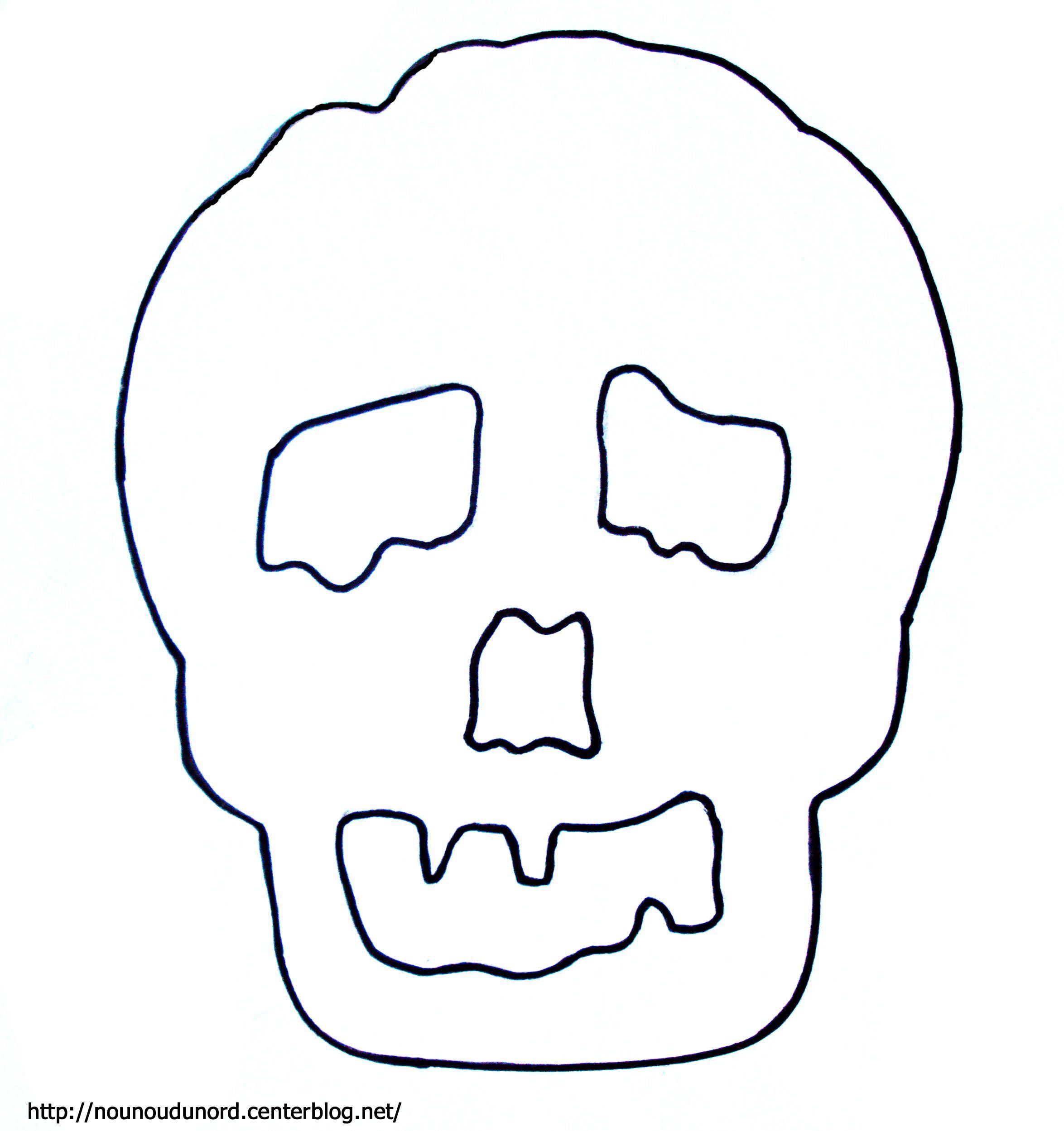 Coloriage t te de mort - Tete de mort coloriage ...